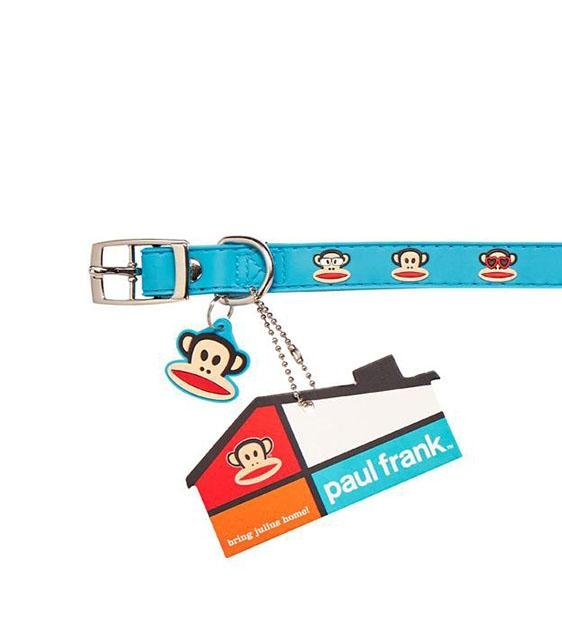 Paul Frank Original Multi Julius Rubber Dog Collar