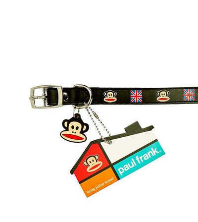 Paul Frank Original Union Jack Rubber Dog Collar