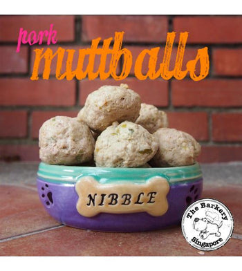 The Barkery Pork Muttballs Meal Toppers Frozen Dog Food