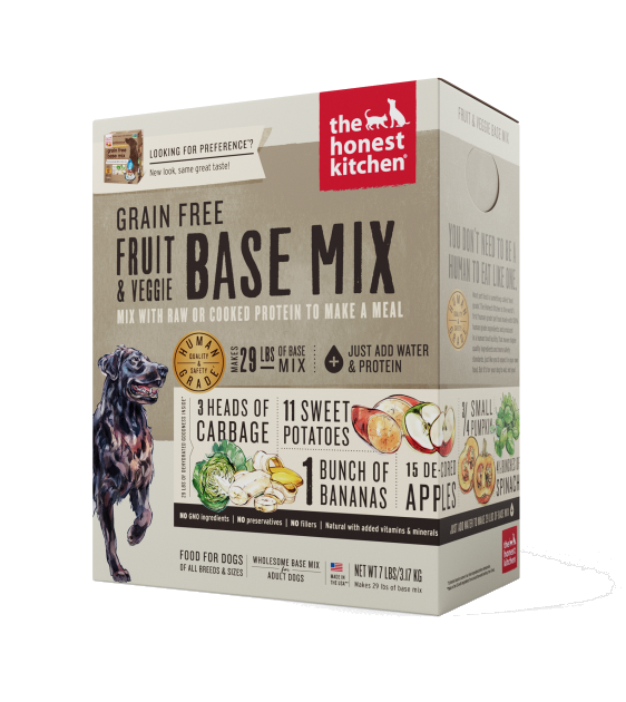 The Honest Kitchen Grain Free Preference Fruit & Veggie Base-Mix Recipe Dehydrated Dog Food