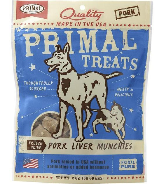 Primal Freeze Dried Pork Liver Munchies Cat & Dog Treats