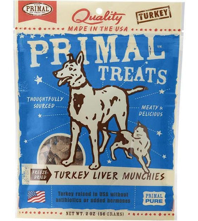 Primal Freeze Dried Turkey Liver Munchies Cat & Dog Treats