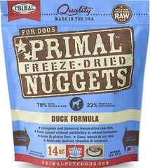 2 FOR $88: Primal Freeze Dried Nuggets Duck Formula Dog Food