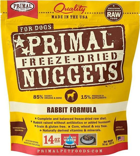$64.50 ONLY: Primal Freeze Dried Nuggets Rabbit Formula Dog Food
