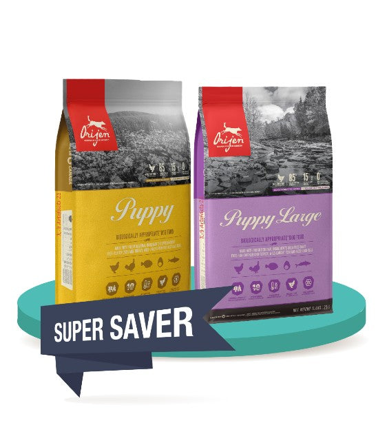 30% OFF [SAVER BUNDLE]: ORIJEN PuppyLove Dry Puppy Food