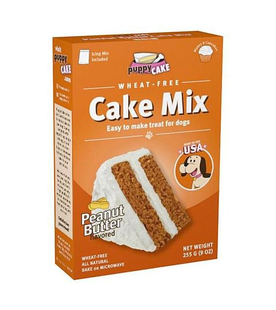 Puppy Cake Microwaveable Cake Mix (Peanut Butter) For Dogs