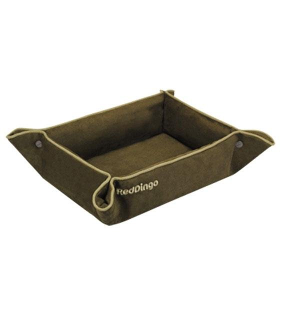 Red Dingo 2-In-1 Dog Bed & Lounge Mat (Deep Olive)
