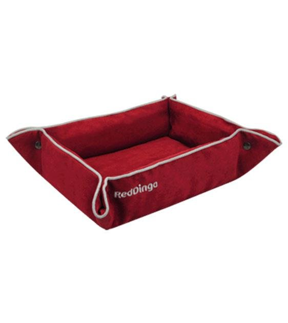 Red Dingo 2-In-1 Dog Bed & Lounge Mat (Red)