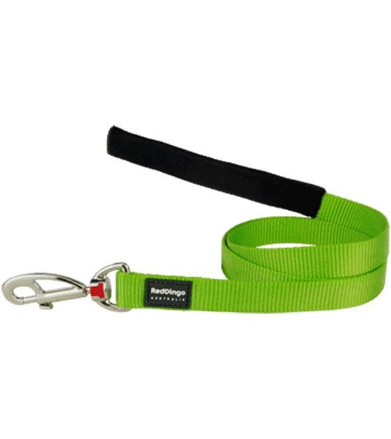 Red Dingo Classic Dog Lead (Lime Green)