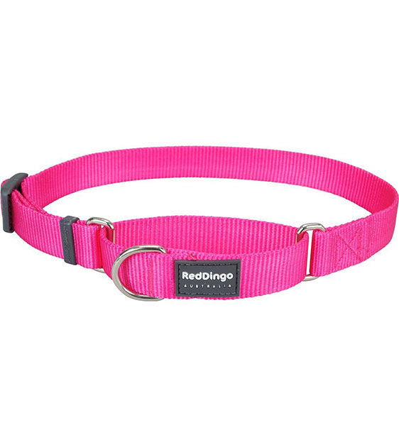Red Dingo Martingale Choke Prevention Dog Collar (Hot Pink)