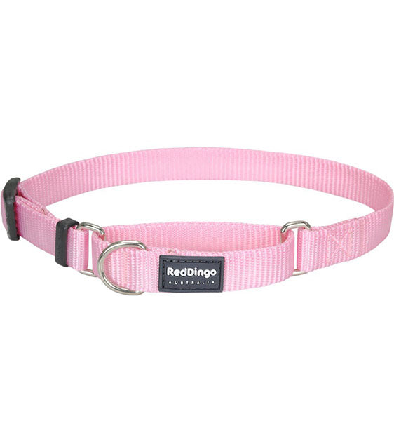 Red Dingo Martingale Choke Prevention Dog Collar (Pink)