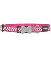 Red Dingo Ziggy Reflective Dog Collar (Hot Pink)