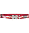 Red Dingo Ziggy Reflective Dog Collar (Red)