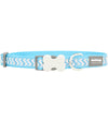 Red Dingo Ziggy Reflective Dog Collar (Turquoise)