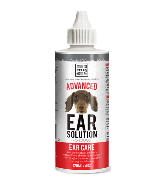 Reliq Advanced Ear Solution for Dogs & Cats 4oz 120ml