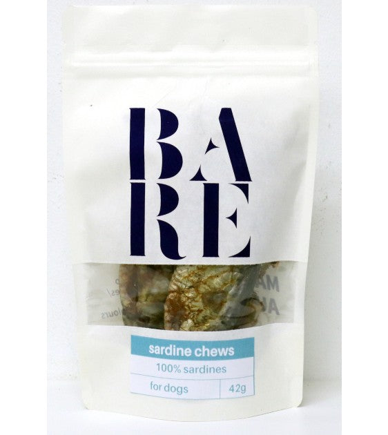 BARE Australian Premium Sardine Chews Dog Treats