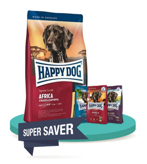 10% OFF + FREE TASTING PACK: Happy Dog SENSIBLE Grain Free Dry Dog Food 4kg