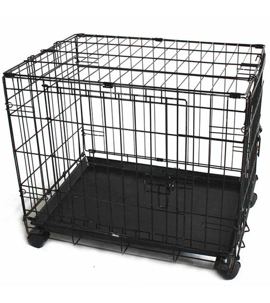 Simply Mansion Dog Crate With Wheels