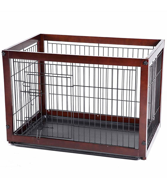 Simply Palace Supreme New Zealand Pine Wood Dog Crate