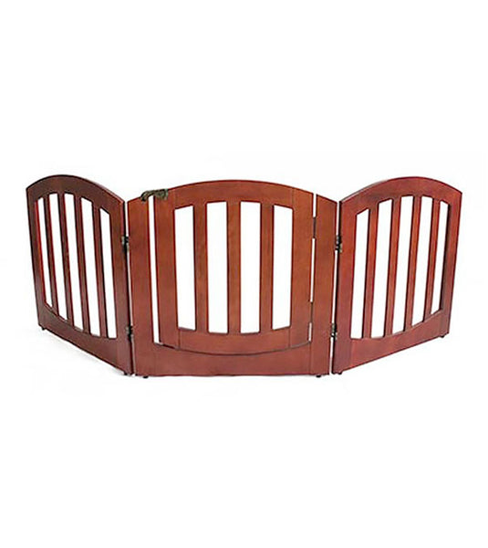 Simply Shield Luxury New Zealand Pine Wood 3 Panel Dog Gate