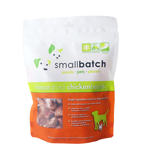 Small Batch Freeze Dried Chicken Hearts Dog Treats