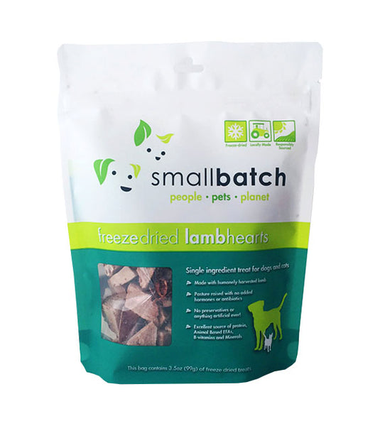 Small Batch Freeze Dried Lamb Hearts Dog Treats
