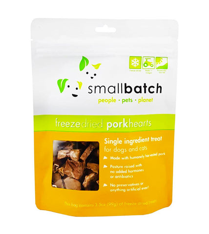 Small Batch Freeze Dried Pork Hearts Dog Treats