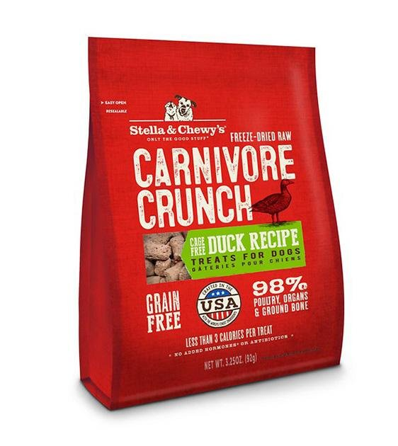 Stella & Chewy's Freeze Dried Carnivore Crunch Cage Free Duck Recipe Dog Treats
