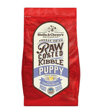15% OFF + VARIETY BOX: Stella & Chewy's Freeze Dried Raw Coated Kibbles (Puppy Chicken) Dog Food
