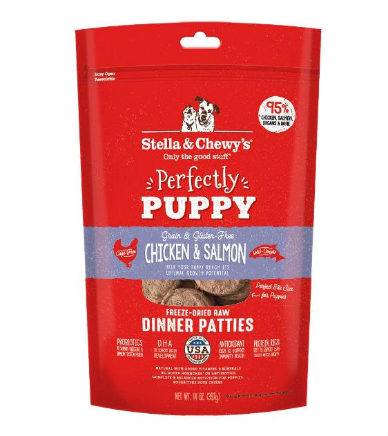 $46 ONLY: Stella & Chewy's Freeze Dried Perfectly Puppy (Chicken & Salmon) Dinner Patties Dog Food