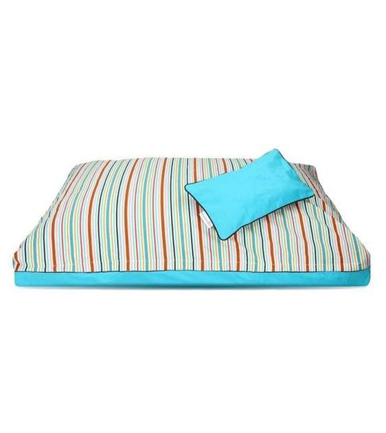 DreamCastle Natural Dog Bed (Colourful Stripe)