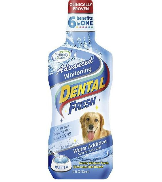 SynergyLabs Dental Fresh Advanced Whitening Water Additive for Dogs