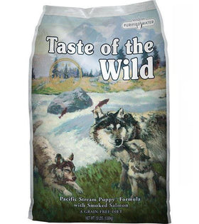 45% OFF + FREE TOPPER: Taste Of The Wild Pacific Stream (Smoked Salmon Puppy) Dry Dog Food