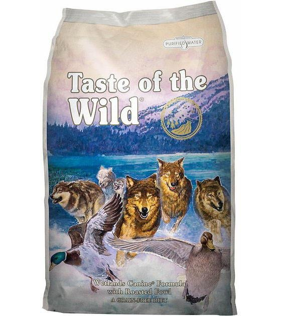 45% OFF + FREE TREAT: Taste Of The Wild Wetlands (Roasted Fowl) Dry Dog Food