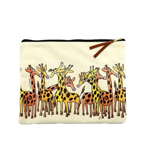 The Animal Project Canvas Pouch (Giraffes By Jun-Yi)