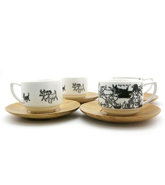 The Animal Project Expresso Cup Set (Dogs By Jun-Yi)