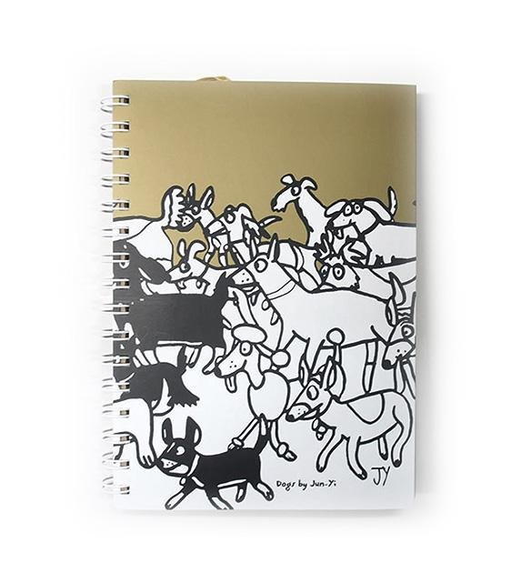 The Animal Project Notebook (Dogs In Gold By Jun-Yi)