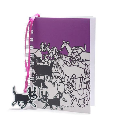 The Animal Project Notebook (Dogs In Plum By Jun-Yi)