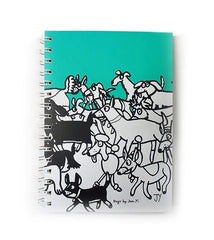 The Animal Project Notebook (Dogs In Turquoise By Jun-Yi)