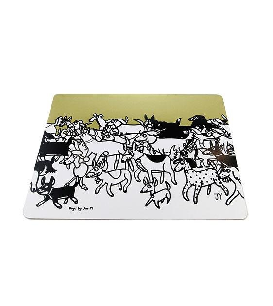 The Animal Project Placemats (Dogs In Gold By Jun-Yi)