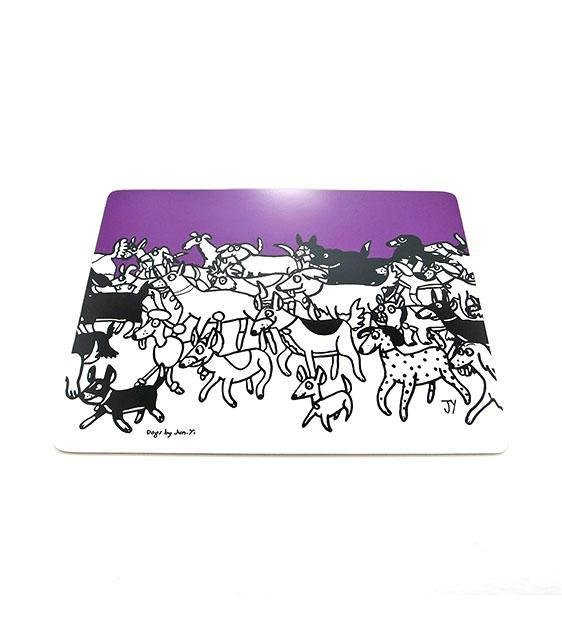 The Animal Project Placemats (Dogs In Plum By Jun-Yi)