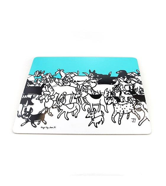 The Animal Project Placemats (Dogs In Turquoise By Jun-Yi)