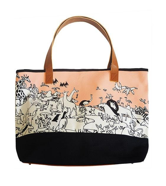 The Animal Project Resort Totes (Animals In Pink By Jun-Yi)