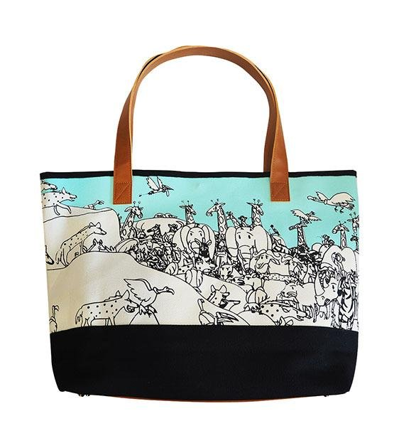 The Animal Project Resort Totes (Animals In Turquoise By Jun-Yi)