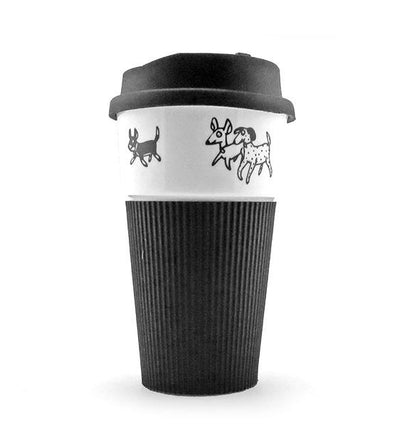 The Animal Project Thermal Mug With Silicon Lid (Dogs By Jun-Yi)
