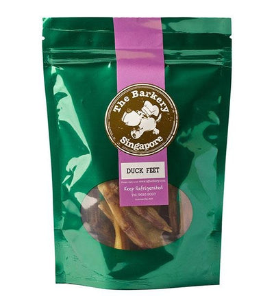 The Barkery Dehydrated Probiotic Duck Feet Dog Treats