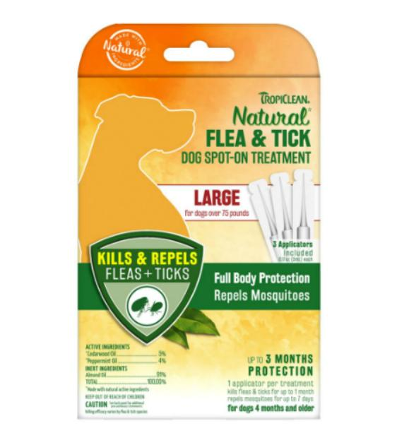 15% OFF: TropiClean Natural Flea & Tick Spot On for Dogs