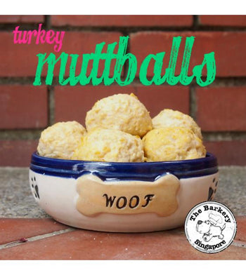 The Barkery Turkey Muttballs Meal Toppers Frozen Dog Food