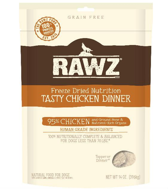 Rawz Freeze Dried Tasty Chicken Dinner Dog Food