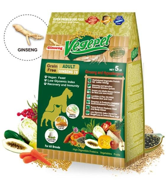 VegePet Grain Free Ginseng Adult Dog Food